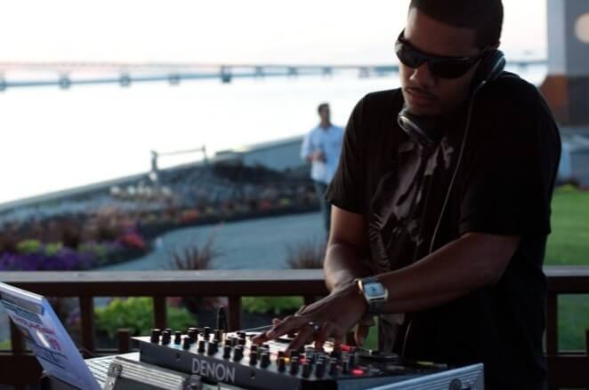 DJ Neza getting ready for an event