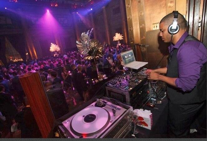 DJ Neza warming up the Crowd