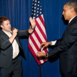 Magician & Mentalist Rory Wheeler with president Obama | Nicholson Events Inc NY, NYC & CT Event Planning NYC, Fairfield CT, Hamptons, Weddings, Bar Mitzvah, Bat Mitzvah, Corporate Events, Sweet 16, Event DJs, Bands