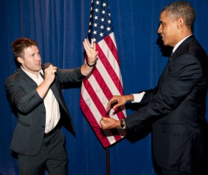 Magician & Mentalist Rory Wheeler with president Obama | Nicholson Events Inc NY, NYC & CT