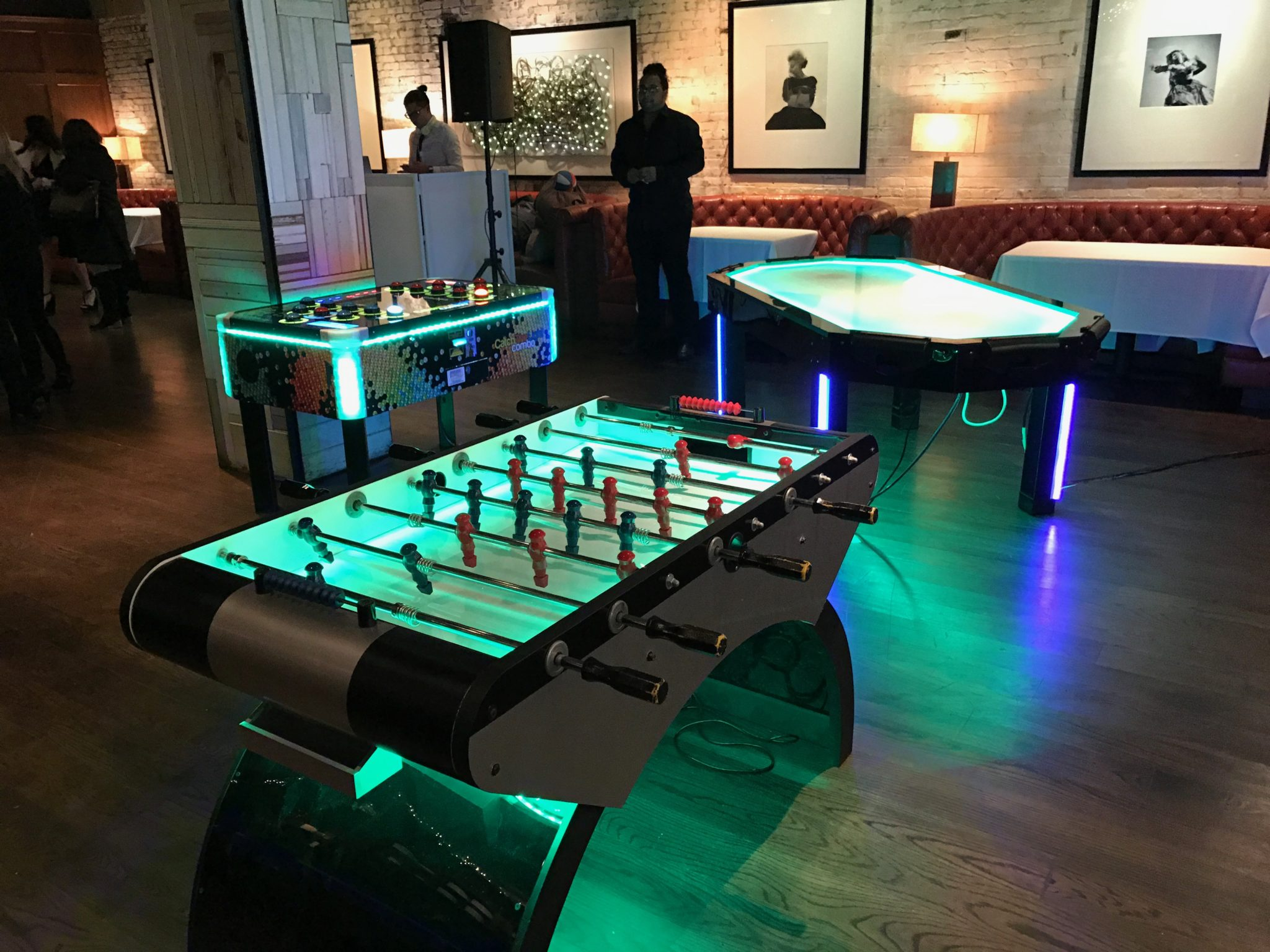 LED Foosball, LED Air Hockey and Catch The Light Combo Event Planning NYC, Fairfield CT, Hamptons, Weddings, Bar Mitzvah, Bat Mitzvah, Corporate Events, Sweet 16, Event DJs, Bands