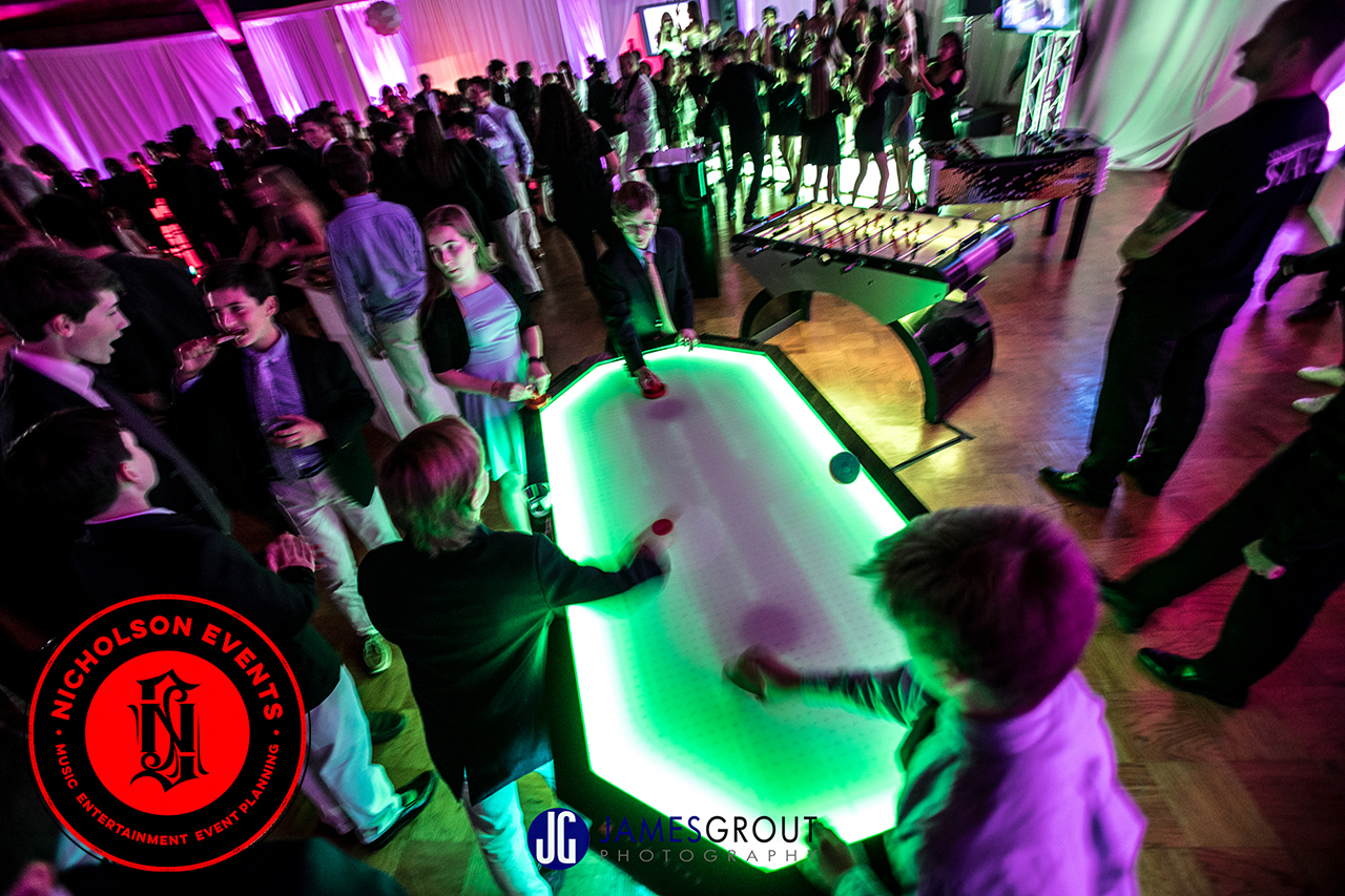 LED 6 Player Air Hockey, LED Foosball & Catch-The-Light Event Planning NYC, Fairfield CT, Hamptons, Weddings, Bar Mitzvah, Bat Mitzvah, Corporate Events, Sweet 16, Event DJs, Bands