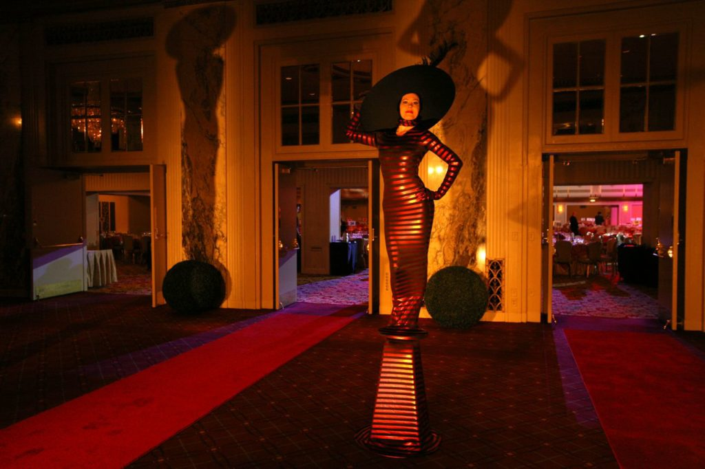 Living Statue Red Carpet Greeter at The Waldorf Astoria Event Planning NYC, Fairfield CT, Hamptons, Weddings, Bar Mitzvah, Bat Mitzvah, Corporate Events, Sweet 16, Event DJs, Bands